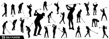 Golf Silhouettes, Vector Set O...