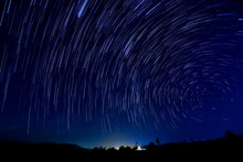 Beautiful Star Trail Image Dur...