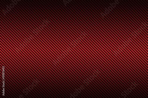 Fotografie, Obraz  červená z uhlíkových vláken s černou barvou, přechodem pozadí a textu