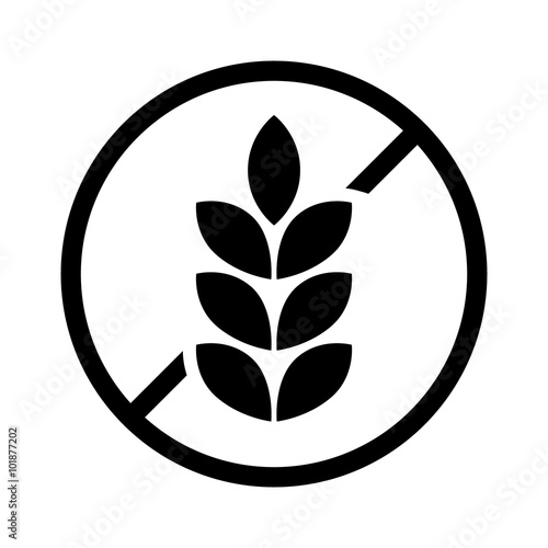Fotomural  gluten free or non gluten food allergy product dietary label for apps and websit