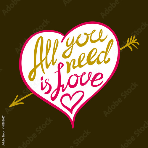 Photo  Digitally generated All you need is love vector