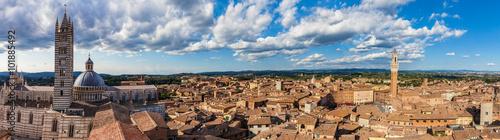 Fototapeta Siena, Italy panorama rooftop city view