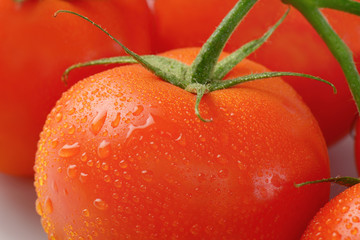 wet red tomatoes