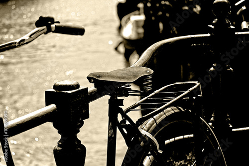 Photo  Old bicycle