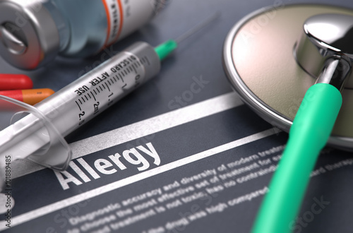 Diagnosis - Allergy. Medical Concept. Wallpaper Mural