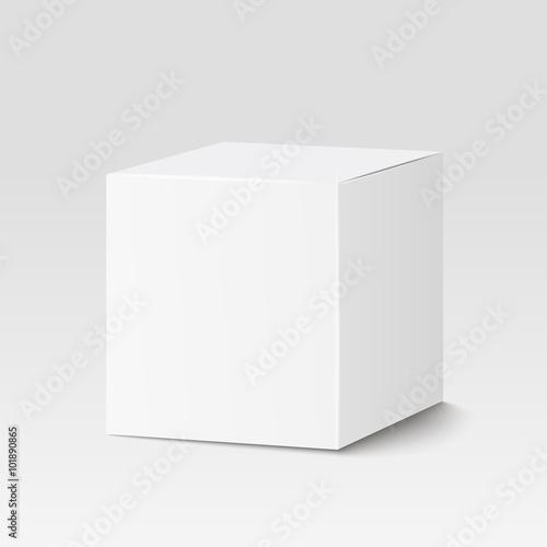 Photographie  Boîte carrée blanche