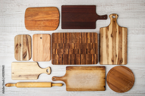 Kitchen boards set top view