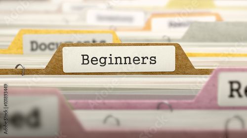 Photo Folder in Catalog Marked as Beginners.