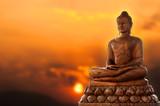 Buddha and sunset