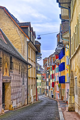Plakat Street in the Old Town of Solothurn