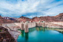 View Of The Hoover Dam In Nevada, USA