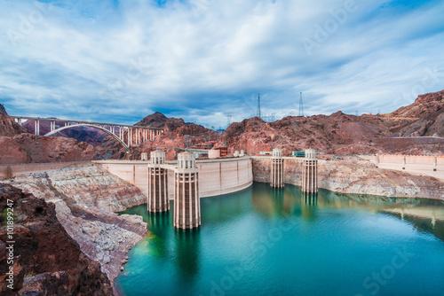 Fotografia  View of the Hoover Dam in Nevada, USA