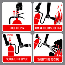Fire Extinguisher Vector Instr...