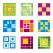 Geometric cube, square shapes for logo. Square logo business, logo geometric, cube logo abstract, square cubic shape. Vector illustration