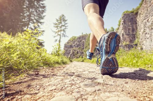 Poster Jogging Healthy trail run