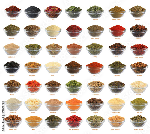 Recess Fitting Spices collage spices