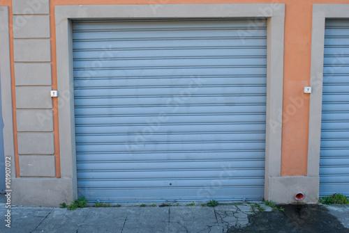 Saracinesca garage, grigio