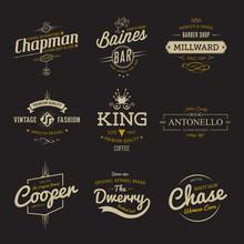 Vector Vintage Labels. Templat...
