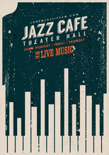 Vector Vintage Jazz Music Post...