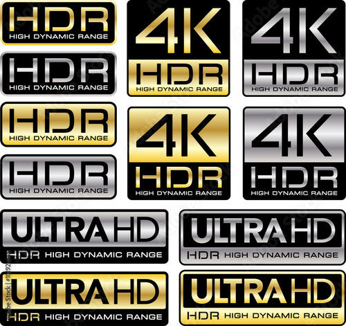 Photo Logos 4K et Ultra HD avec la mention HDR