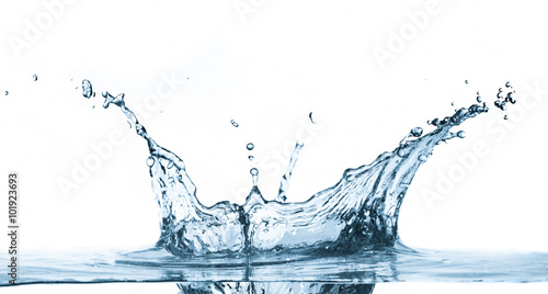 Foto op Plexiglas Water Water splash isolated on white background.