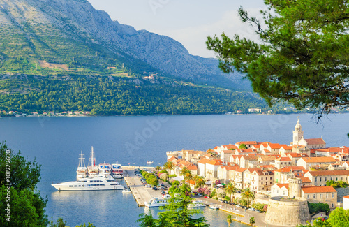 Fototapeta  Old Town on Korcula island in Dalmatia, Croatia