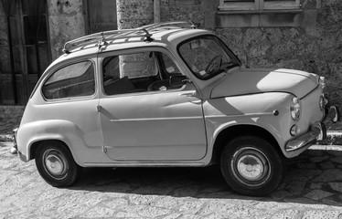 Vintage automobile at street