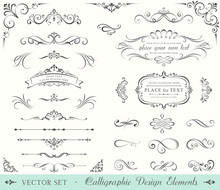 Ornate Frames And Scroll Eleme...