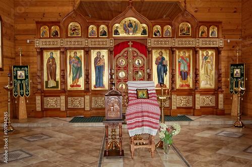 Photo sur Toile Europe de l Est The altar of the Orthodox Church. Interior