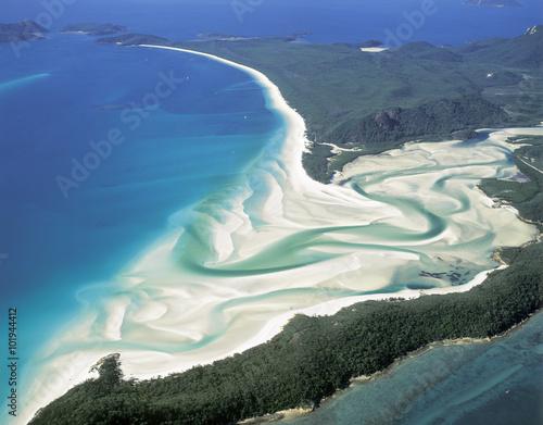 Cuadros en Lienzo Whitehaven Beach on Whitsunday Island,Queensland,Australia.