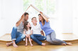 Leinwanddruck Bild - family