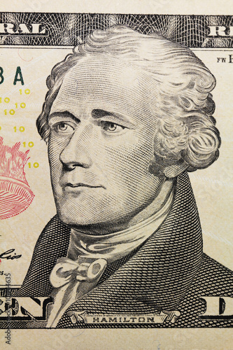 Photo  portrait on dollar