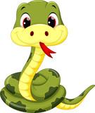 Fototapeta Fototapety na ścianę do pokoju dziecięcego - Cute baby snake cartoon