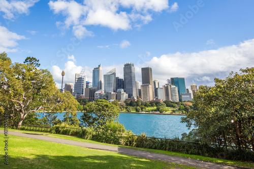 Canvas Prints Sydney Sydney Skyline view from the Royal Botanic Gardens.