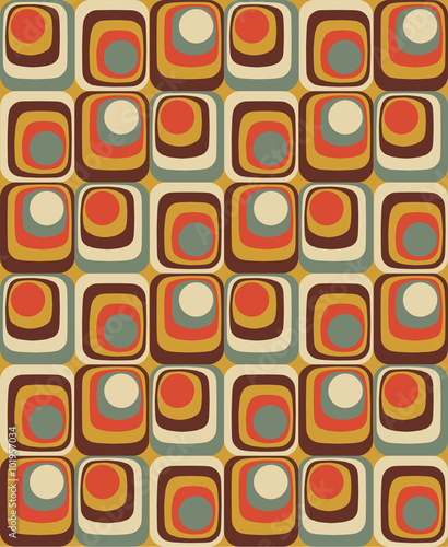Vector Colorful abstract retro seamless geometric pattern - 101957034