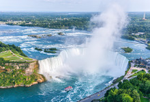 Niagara Falls Aerial View, Can...