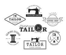 Set Fo Tailor Badge And Labes