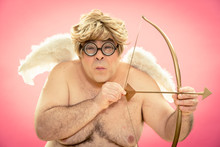 Love Is Blind Cupid Portrait For Valentine Day