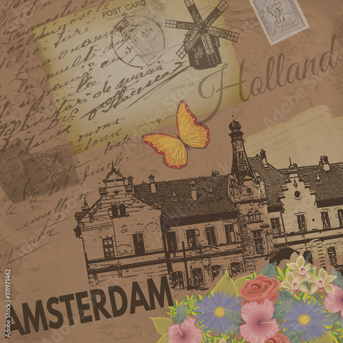 Photo  Amsterdam vintage poster