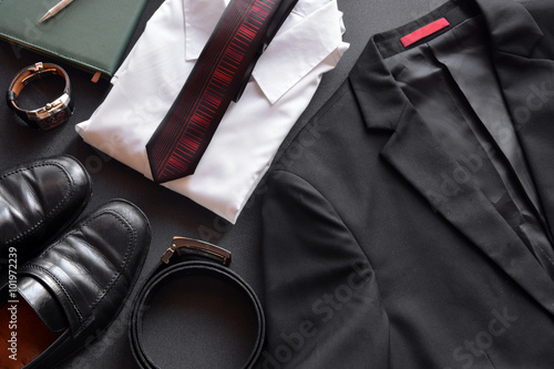 Obraz men's clothing along with several accessories - fototapety do salonu