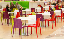 Public Dining Area With Colour...