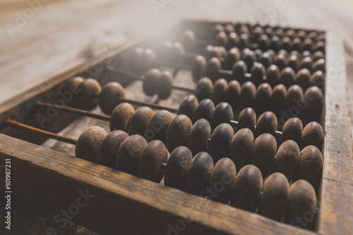 Photo Vintage wooden abacus