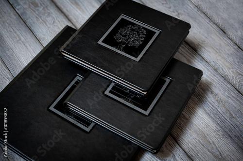 Valokuva  Opened book - photoalbum closeup