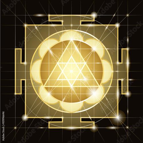 Photo Sree  Ganapati Yantra. Sacred Geometry
