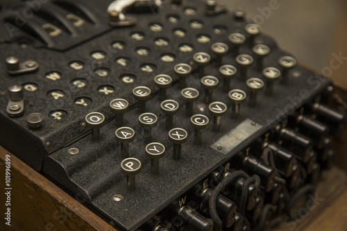 Photo  Enigma, the German cipher machine created for sending messages during World War