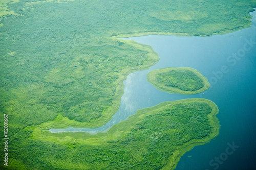 Valokuva  aerial view of nile river