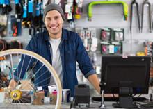 Salesman In Bicycle Shop