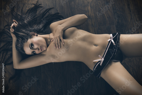 glamour female in erotic pose