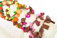 A Set Of Bracelets From Polymer Clay