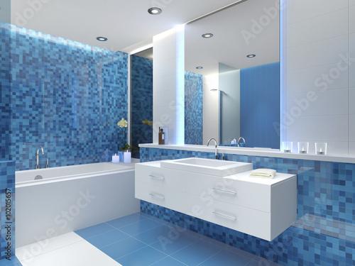 Bad Badezimmer Waschbecken Badewanne Mosaikfliesen Fliesen Buy